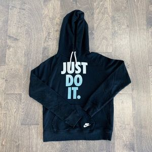 Nike Just Do It Black Pullover Hoodie
